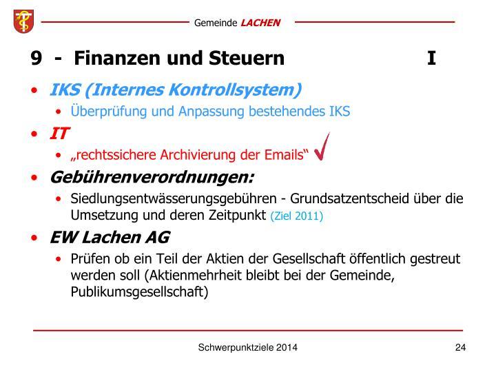 9  -  Finanzen und SteuernI