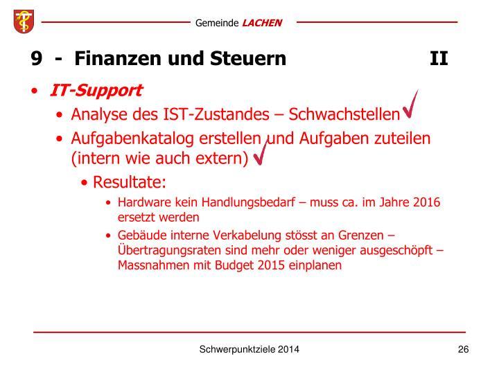 9  -  Finanzen und SteuernII