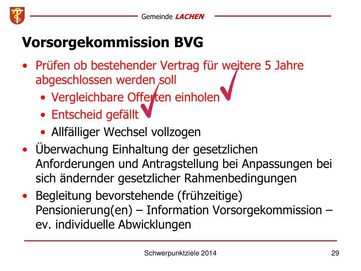 Vorsorgekommission BVG