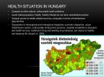 health situation in hungary
