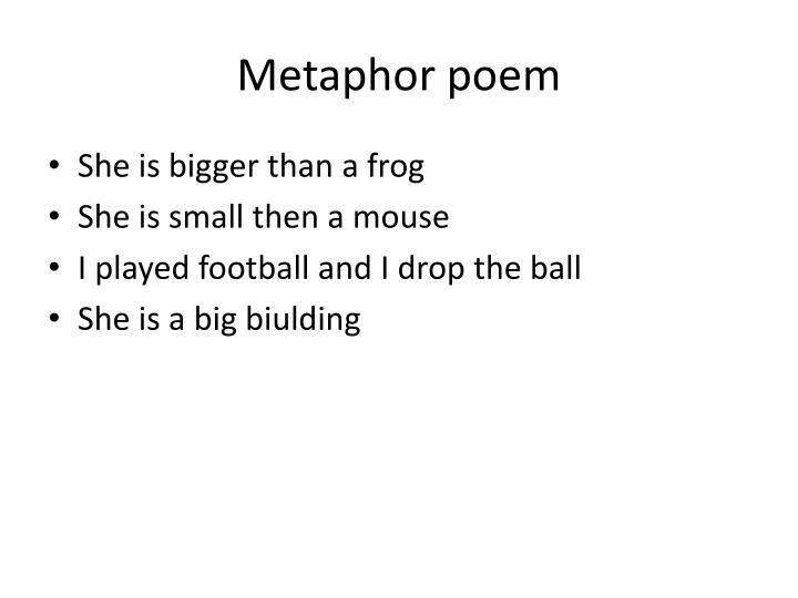 Metaphor poem