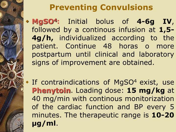 Preventing Convulsions