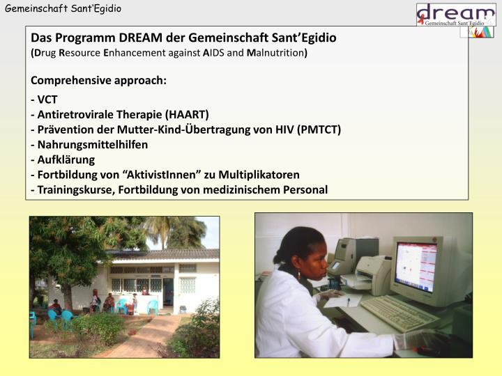 Das Programm DREAM der Gemeinschaft Sant'Egidio