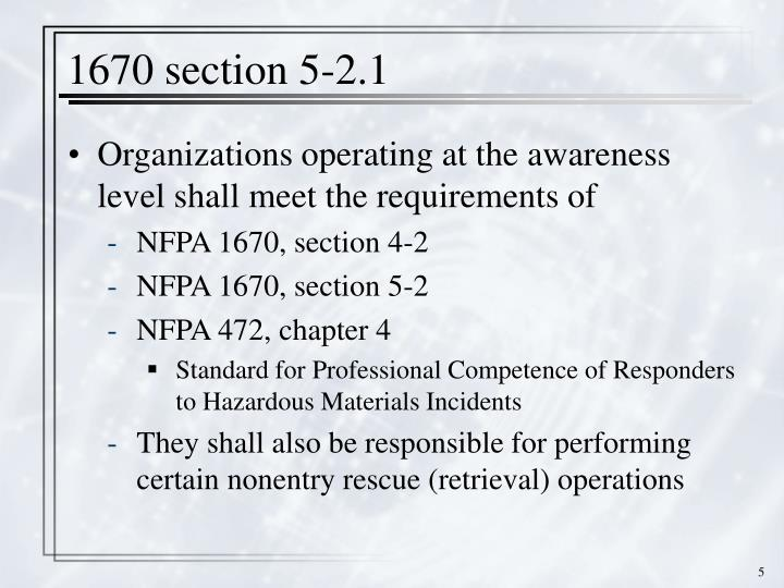 1670 section 5-2.1