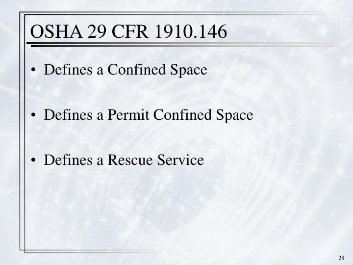 OSHA 29 CFR 1910.146