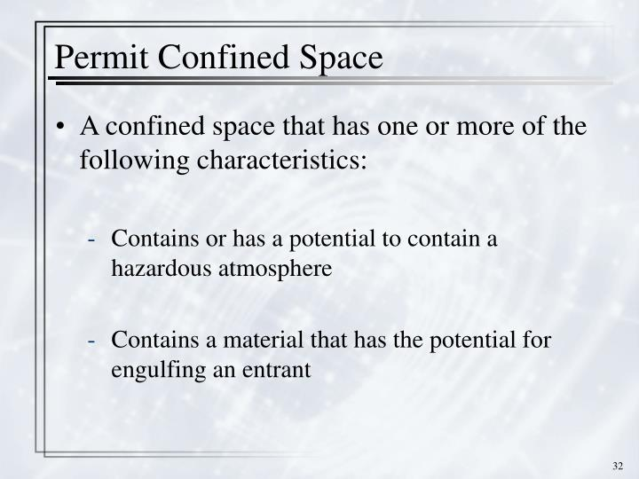 Permit Confined Space