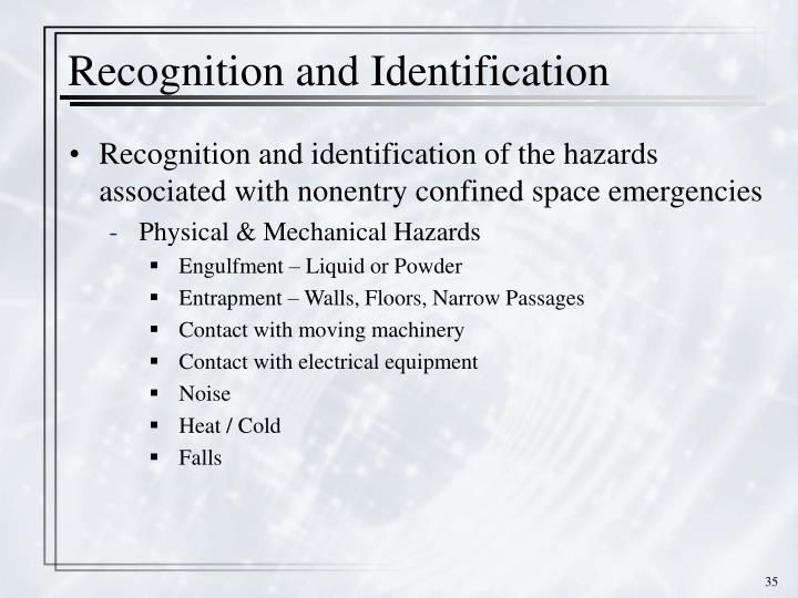 Recognition and Identification