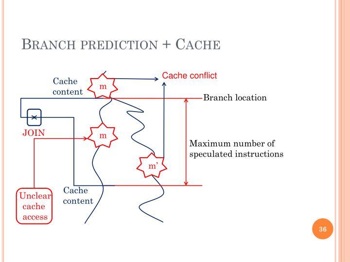 Branch prediction + Cache