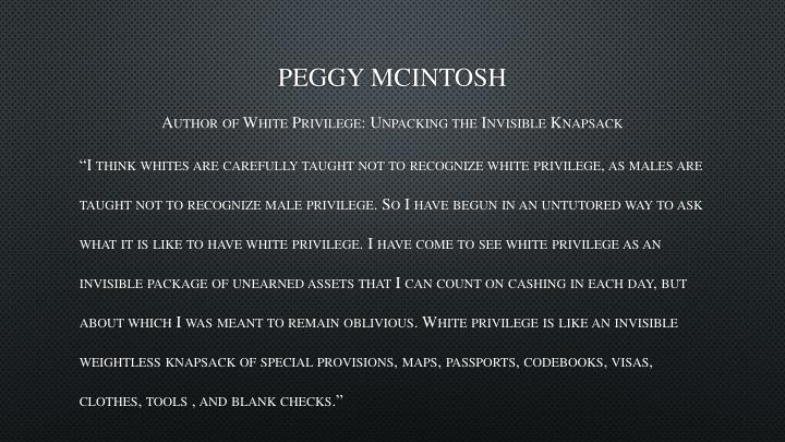Peggy McIntosh