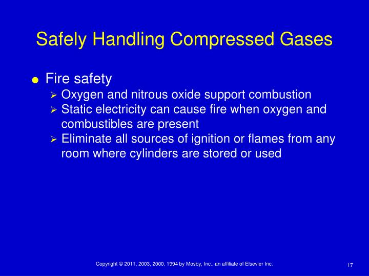 Safely Handling Compressed Gases