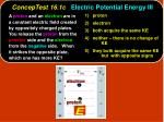 conceptest 16 1c electric potential energy iii