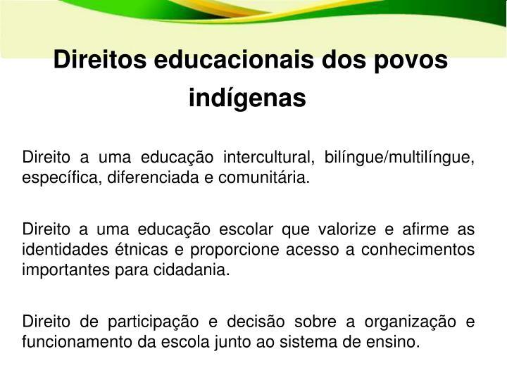 Direitos educacionais dos povos indígenas