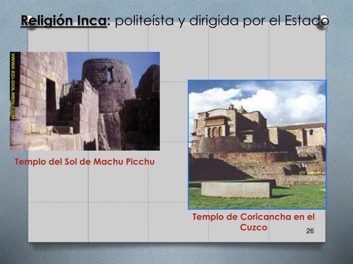 Templo de Coricancha en el Cuzco