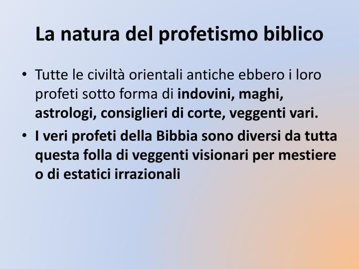 La natura del profetismo biblico