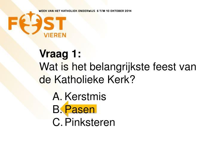 Vraag 1: