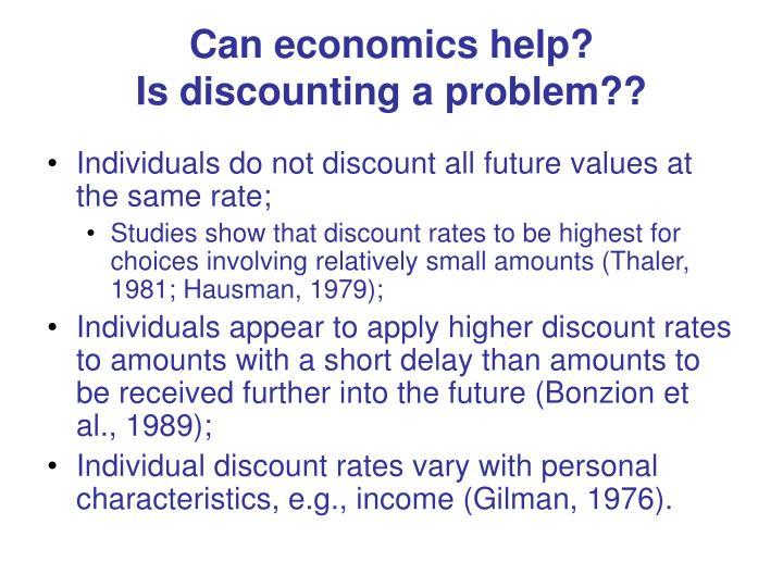 Can economics help?