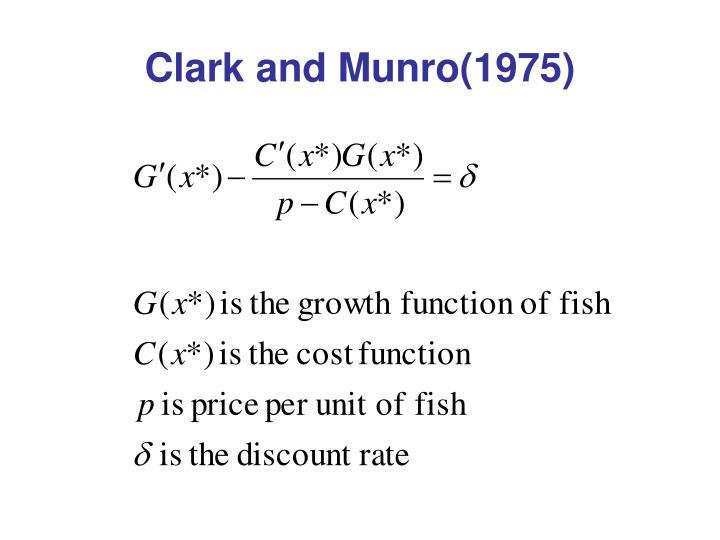 Clark and Munro(1975)