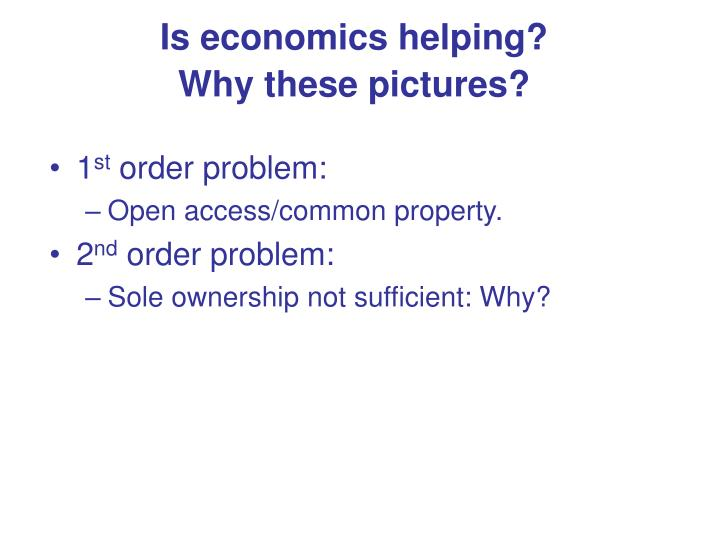 Is economics helping?