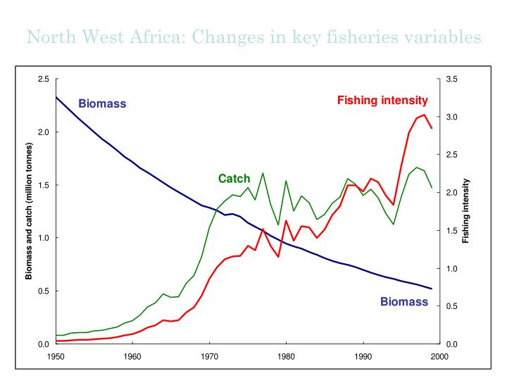 North West Africa: Changes in key fisheries variables