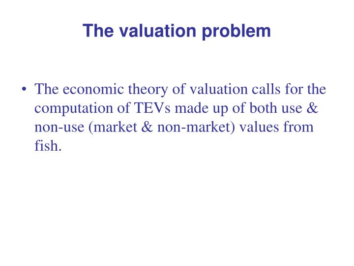 The valuation problem