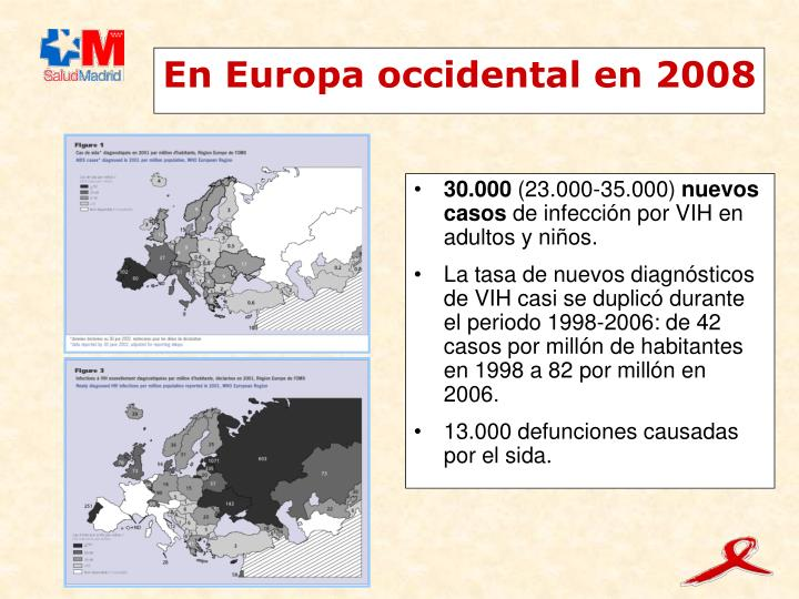 En Europa occidental en 2008