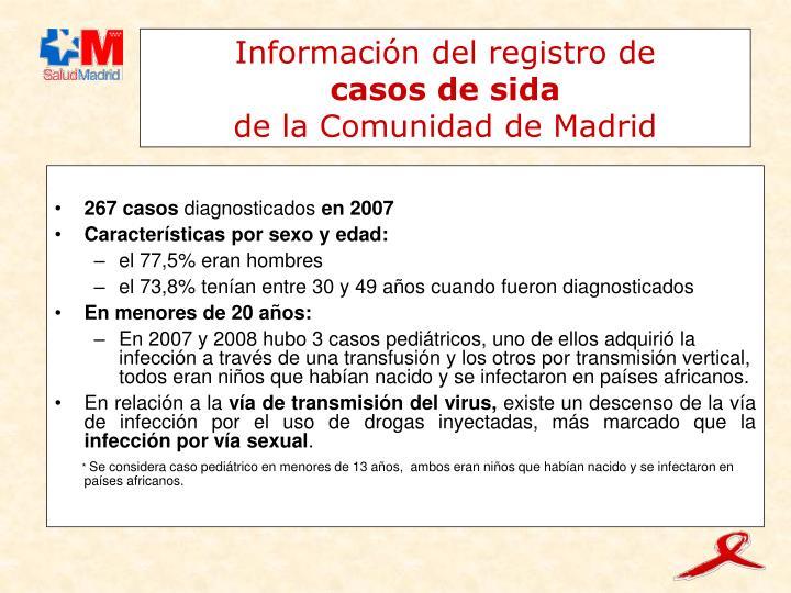 Información del registro de