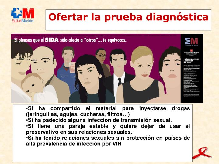Ofertar la prueba diagnóstica