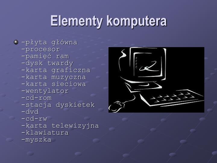 Elementy komputera