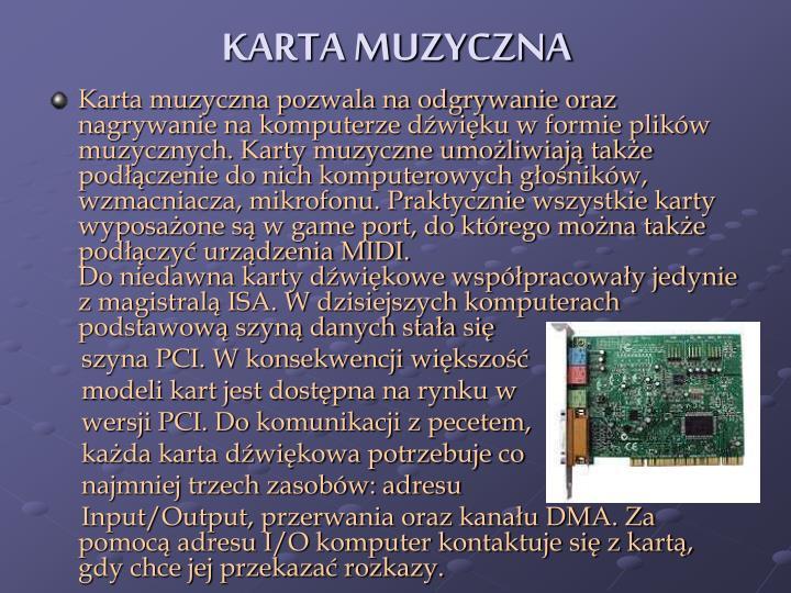 KARTA MUZYCZNA