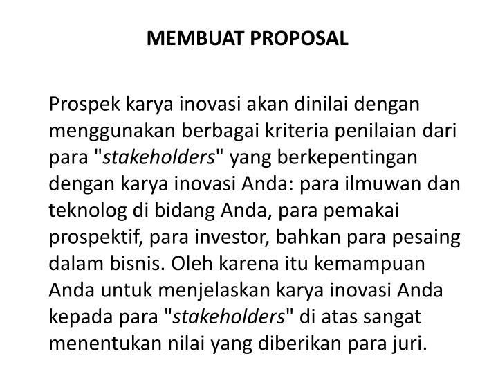 MEMBUAT PROPOSAL