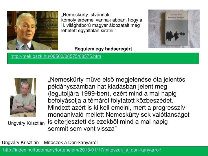 """""""Nemeskürty Istvánnak"""