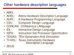 other hardware description languages
