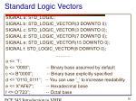 standard logic vectors