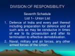 division of responsibility