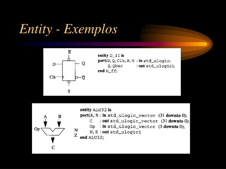 Entity - Exemplos