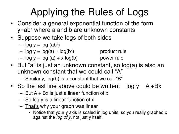 Applying the Rules of Logs
