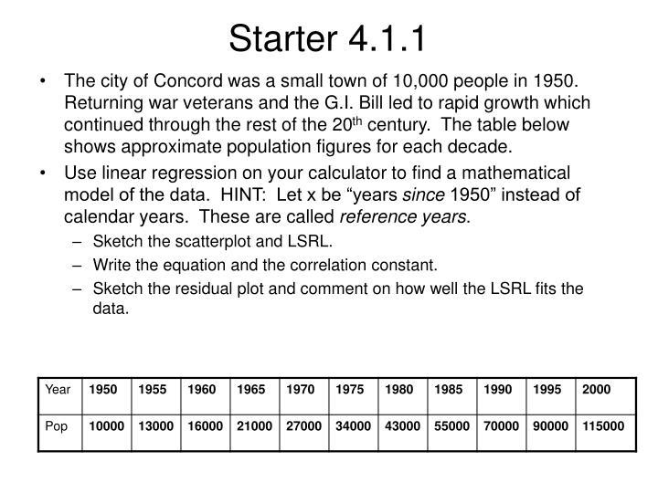 Starter 4.1.1