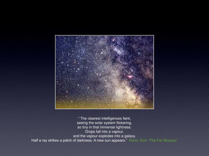 """"""" The clearest intelligences faint,"""