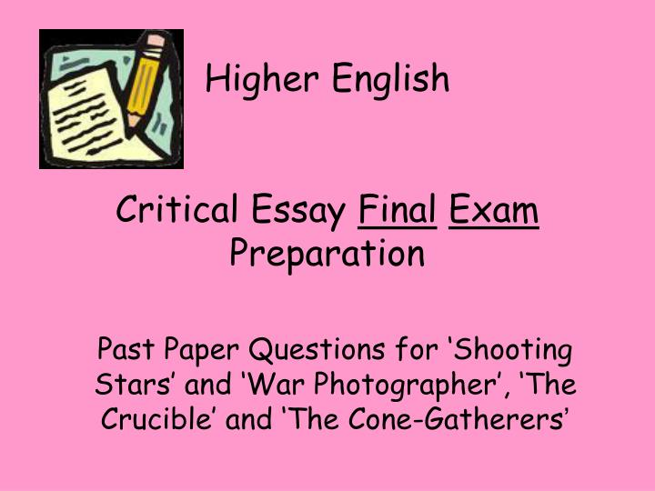 how to write higher english essays