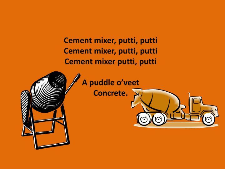 Cement mixer,