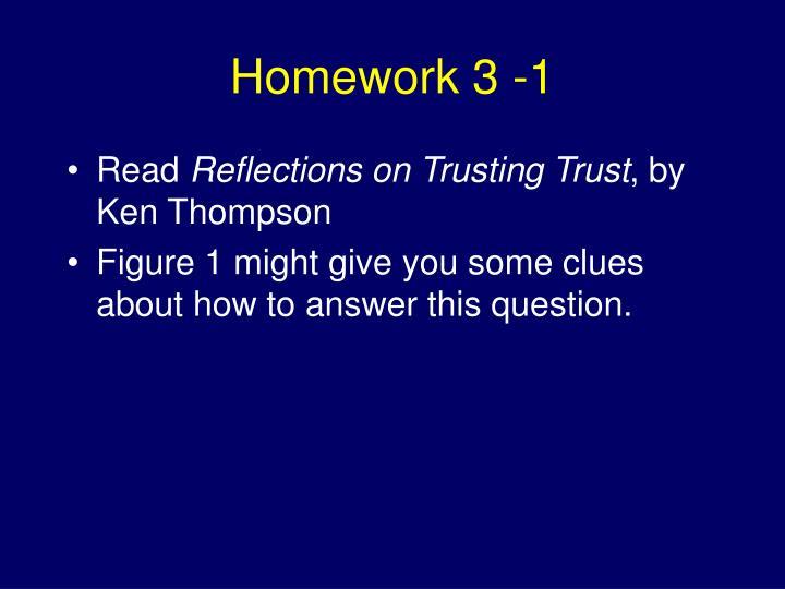Homework 3 -1