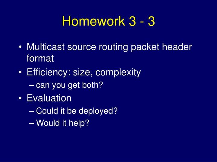 Homework 3 - 3
