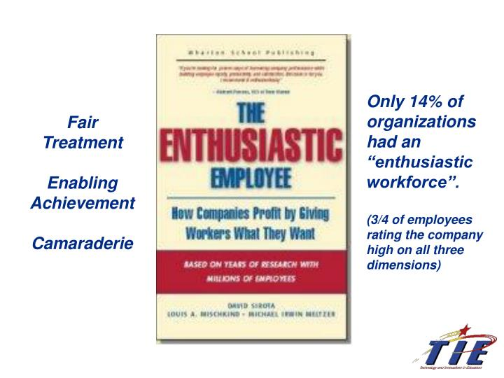 "Only 14% of organizations had an ""enthusiastic workforce""."