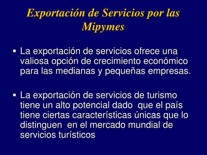 Exportacin de Servicios por las Mipymes