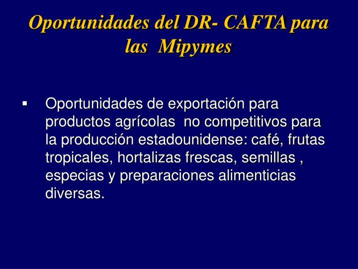 Oportunidades del DR- CAFTA para las  Mipymes