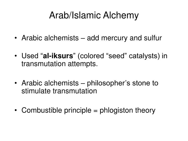Arab/Islamic Alchemy