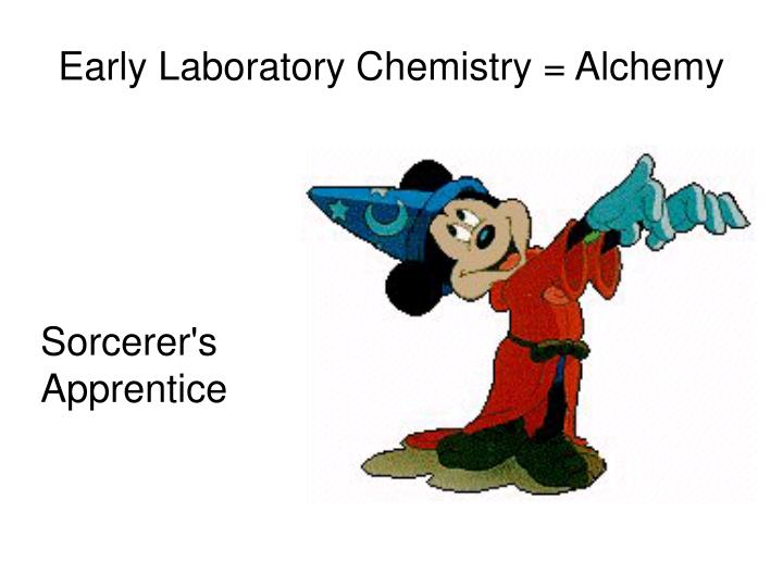 Early Laboratory Chemistry = Alchemy