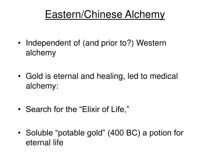 Eastern/Chinese Alchemy