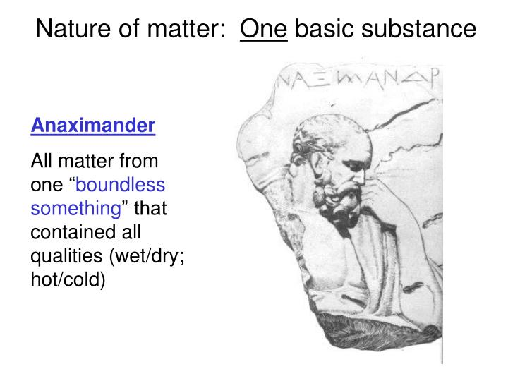 Nature of matter: