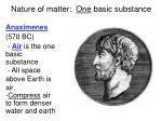 nature of matter one basic substance1